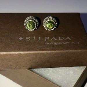 Silpada - Sterling Silver Peridot Earrings - NWOT